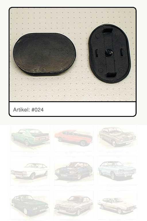 Verschlussdeckel, Kunststoff schwarz, oval