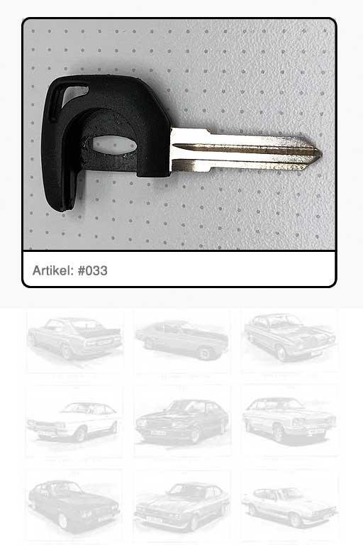 Schlüssel-Rohling für Beleuchtungselement