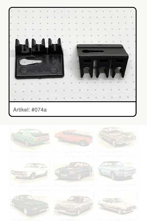Halter Bremsleitung / Kunststoff schwarz