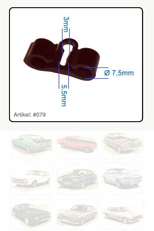 Clip Kraftstoffleitung für 2 Leitungen je 8mm