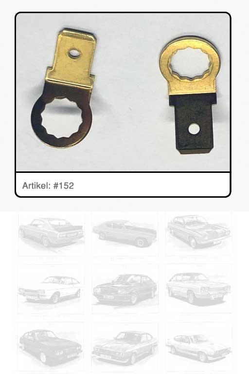 Kabelanschluss-Steckzunge Ausstelldämpfer Heckklappe