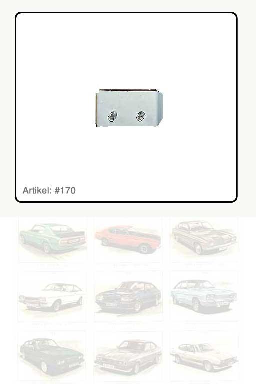 Anzeigenlampe für 4 x Schalter in Armaturenblende