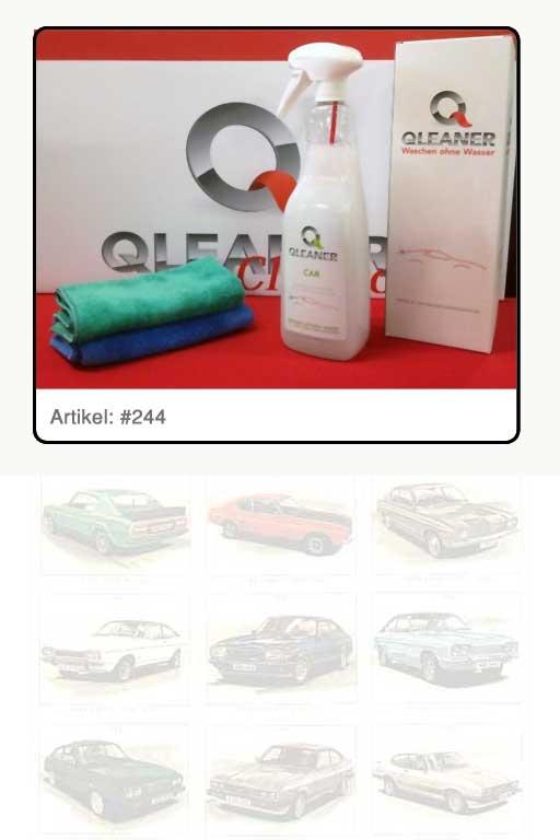 """Fahrzeug-Reinigungsmittel """"QLEANER - Waschen ohne Wasser"""""""