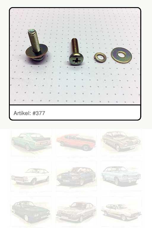 Schraube für Sicherungshaken Motorhaube