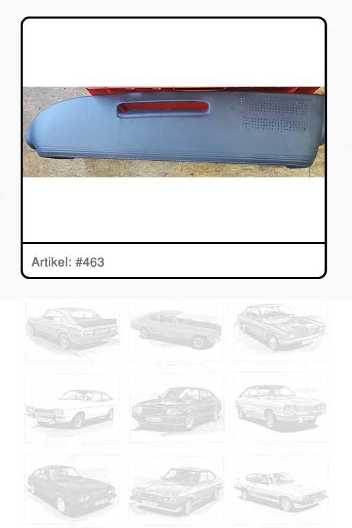 Sicherheitsabdeckung Instrumententafel Farbe ANTHRAZITGRAU