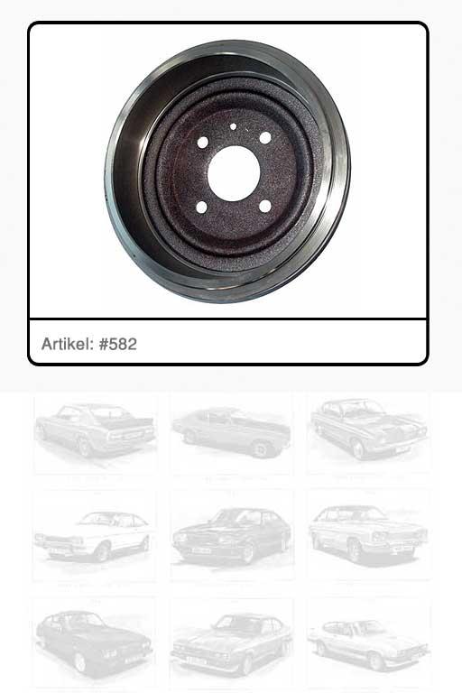 "Bremstrommel 9"" D = 228 x 54 mm"