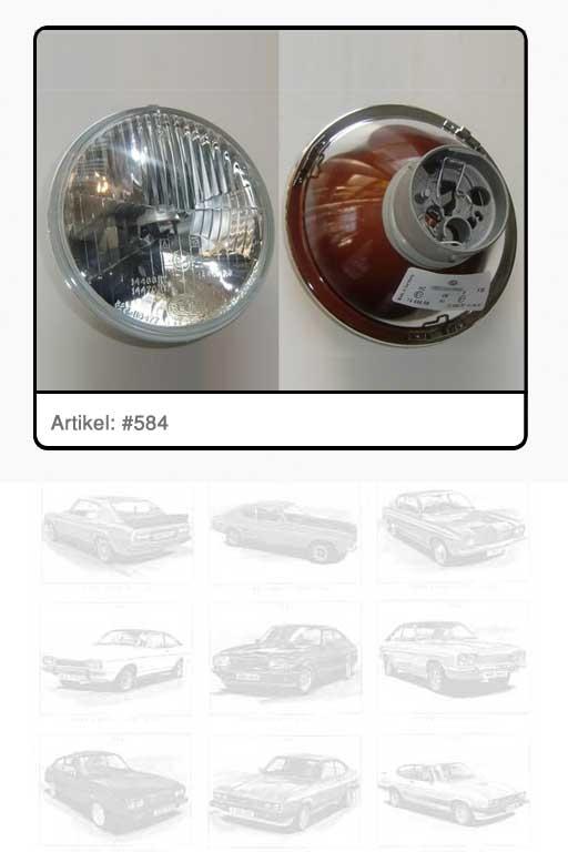 Scheinwerfereinsatz Glas weiß