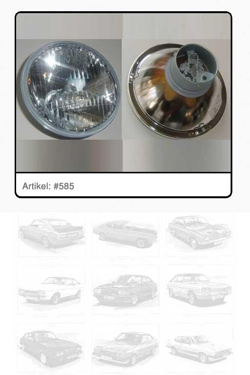 Scheinwerfereinsatz Glas weiß Fernlicht