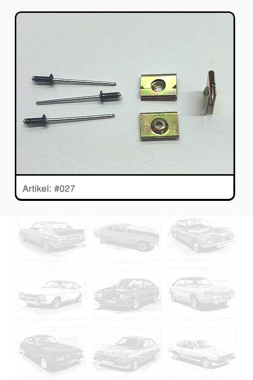 Clip / Metallklammer Zierrahmen Seitenfenster hinten