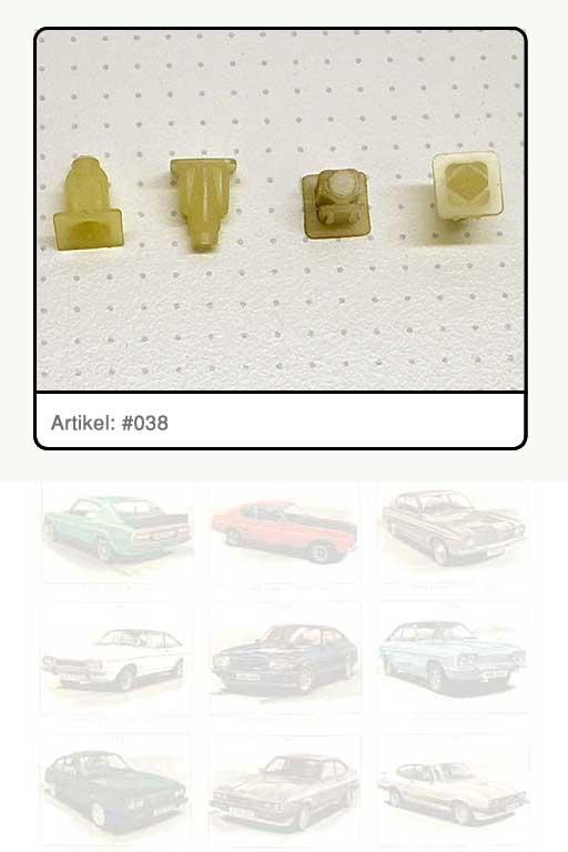 Clip Kunststoff-Dübeleinsatz, Befestigung Kombiinstrument