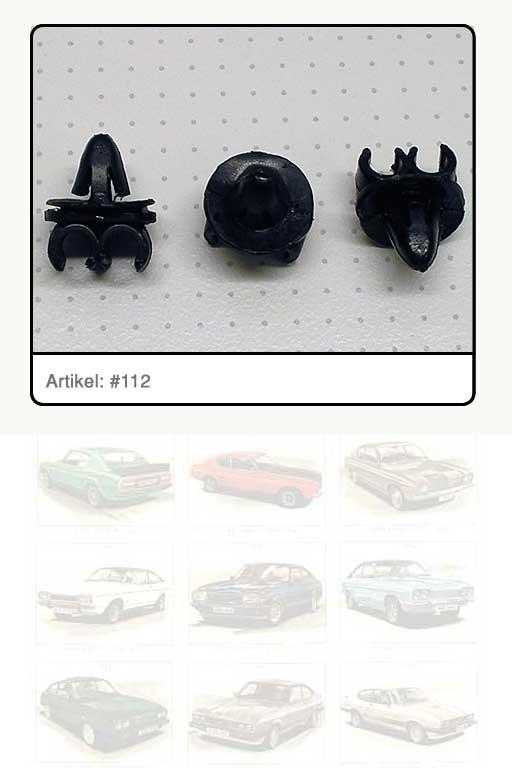 Befestigungsclip Bremsleitung Kunststoff, schwarz
