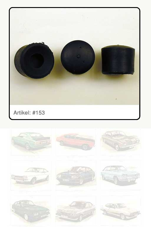 Gummipuffer schwarz Motorhaube an Schließblech