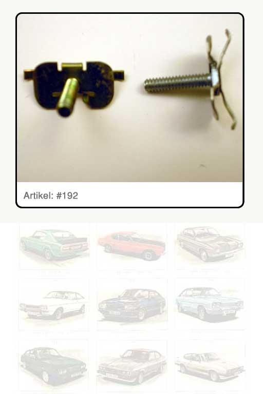 Clip / Halteklammer, Stahl gelb verzinkt