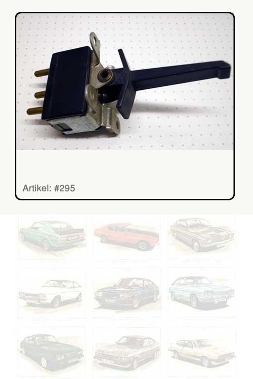 Schalter Lüfer-Motor in Bedienkonsole Heizung