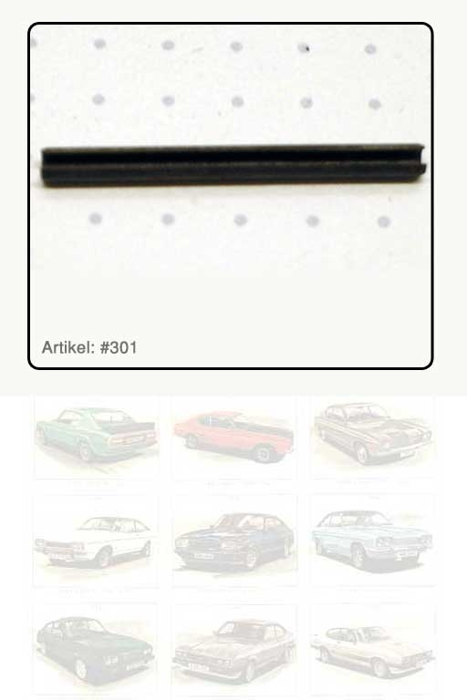 Spannhülse / Stift für Hebel / Kappe innen, passend zu Türaussengriff