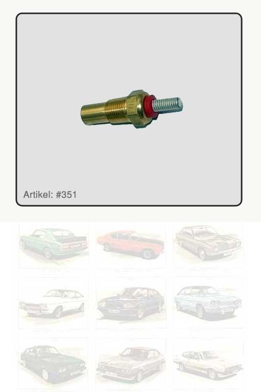 Wassertemperaturfühler rot markiert V6 2.0 - 2.8i