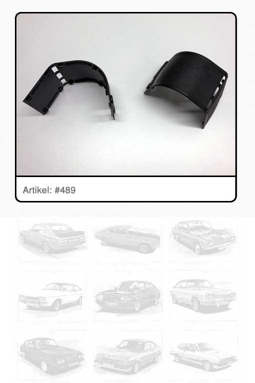 Abdeckung Automatikgurtrolle hinten passend für LH oder RH