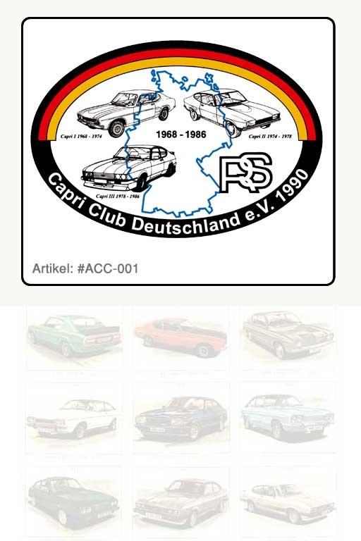 Aufkleber Logo Capri Club Deutschland