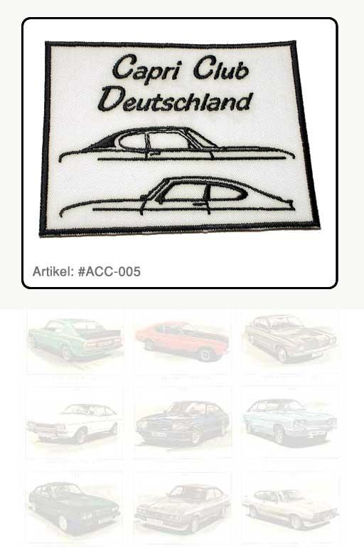 """Aufnäher Capri Club Deutschland """"Silhouette"""", weiß"""